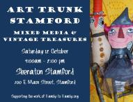 Megumi and Andrea are at the Art Trunk from 9 - 2 pm TODAY at the Stamford Sheraton. Come on down and check out our fun stuff!