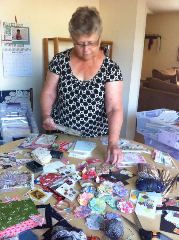 Mom is busy making collage packs!